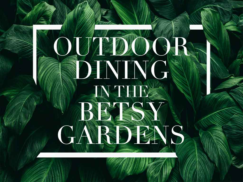 Betsy Garden and Terrace swings with brick wall